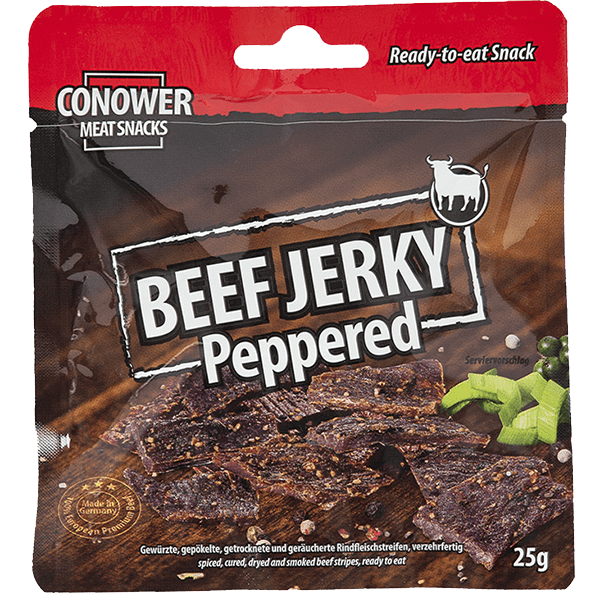 Conower Beef Jerky Peppered 25g
