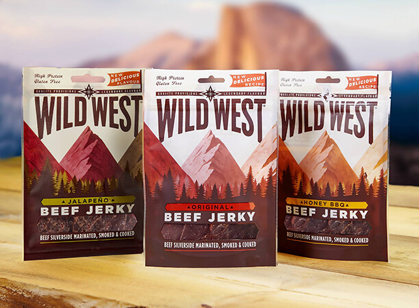 Wild West Beef Jerky Packungen
