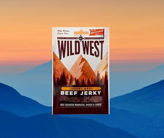 Wild West Beef Jerky BBQ Honey