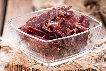 beef jerky lagern